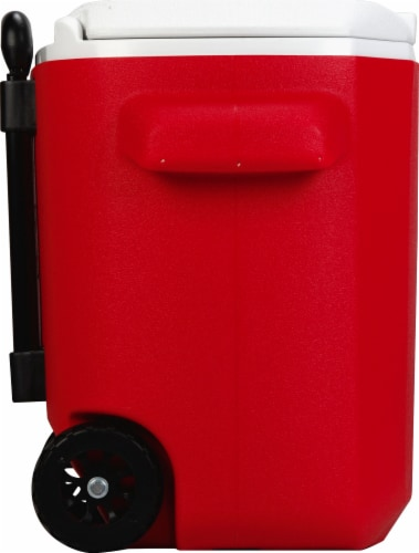 Coleman Wheeled Cooler - Red/White Perspective: left