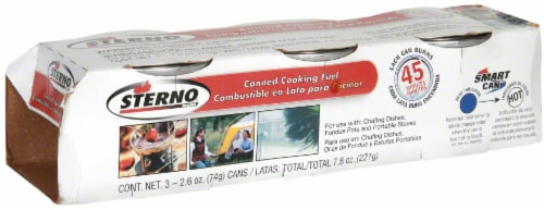 Sterno Outdoor Essentials Canned Cooking Fuel - 3 pk Perspective: left