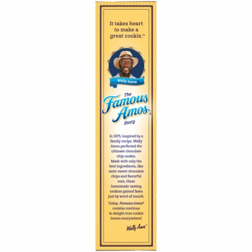 Famous Amos Bite Size Chocolate Chip Cookies Perspective: left