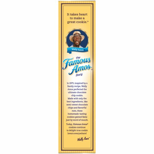 Famous Amos Chocolate Chip & Pecan Bite-Size Cookies Perspective: left