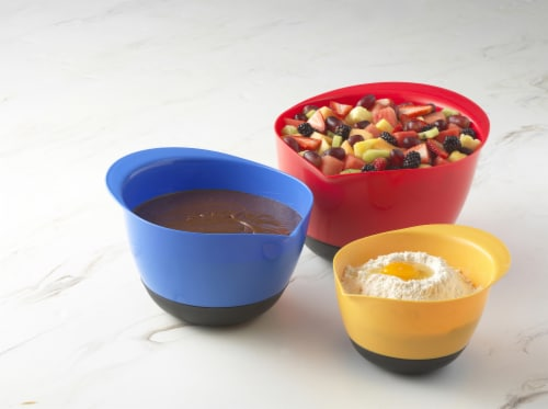 GoodCook® Touch Multi-Colored Mixing Bowls Set Perspective: left