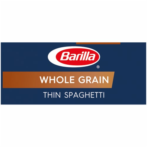 Barilla Whole Grain Thin Spaghetti Pasta Perspective: left