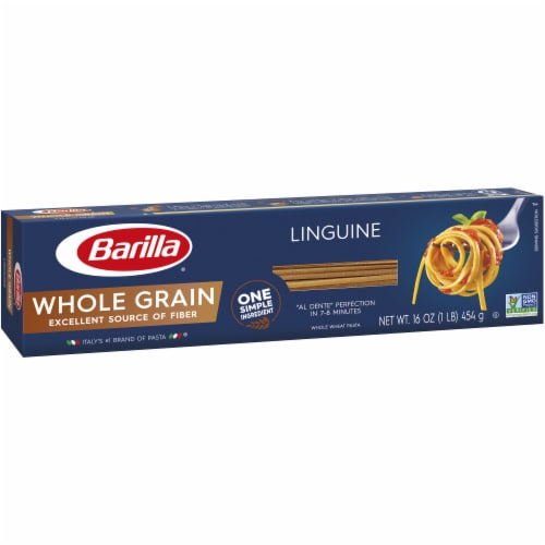 Barilla Whole Grain Linguine Pasta Perspective: left