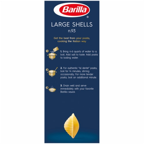 Barilla Large Shells Pasta Perspective: left