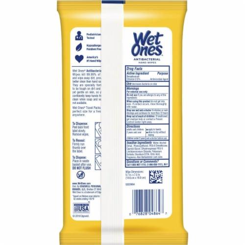 Wet Ones Citrus Antibacterial Hand Wipes Travel Pack Perspective: left