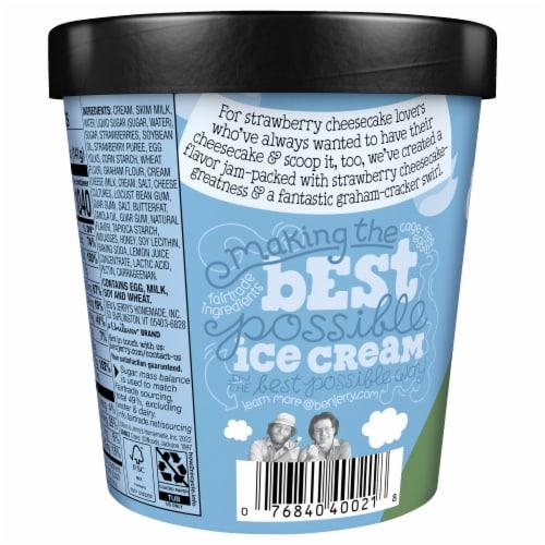 Ben & Jerry's Strawberry Cheesecake Ice Cream Perspective: left