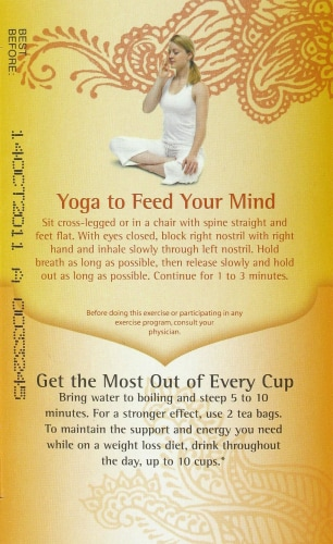 Yogi Healthy Fasting Tea Bags Perspective: left