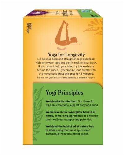 Yogi Super Antioxidant Caffeine Free Green Tea Bags Perspective: left