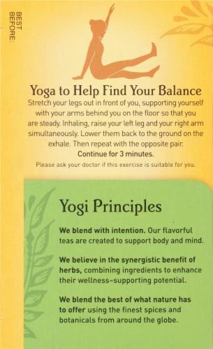 Yogi Pure Green Decaffeinated Tea Bags Perspective: left