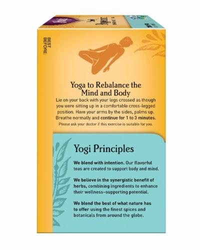 Yogi Organic Purely Peppermint Caffeine Free Tea Bags Perspective: left