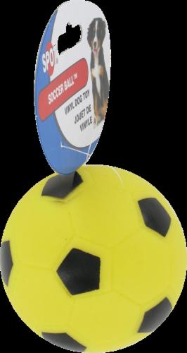 Spot Soccer Ball Vinyl Dog Toy Perspective: left