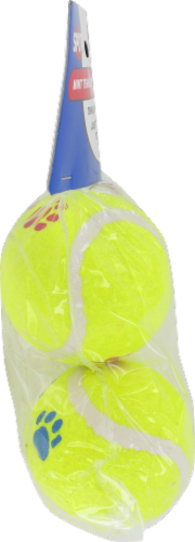 Spot Paw Print Tennis Balls Twin Pack Perspective: left