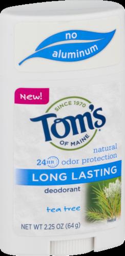 Tom's of Maine Tea Tree Long Lasting Aluminum Free  Deodorant Perspective: left