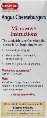 Sandwich Bros. Angus Cheeseburger Flatbread Pocket Sandwiches Perspective: left