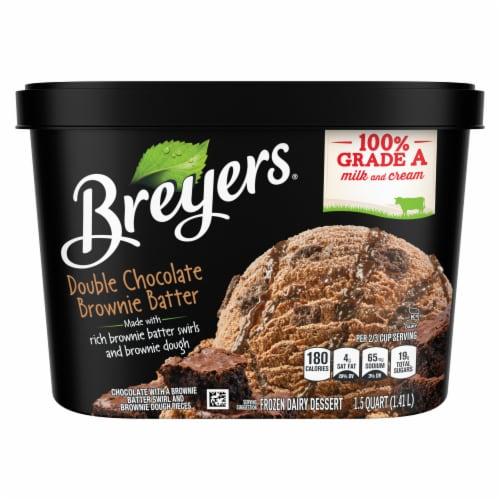 Breyers Double Chocolate Brownie Batter Ice Cream Perspective: left