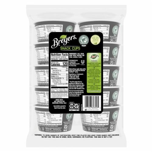 Breyers® Natural Vanilla Ice Cream Snack Cups Perspective: left