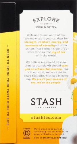 Stash Caffeine Free Chamomile Herbal Tea Perspective: left