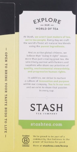 Stash Meyer Lemon Herbal Tea Bags Perspective: left