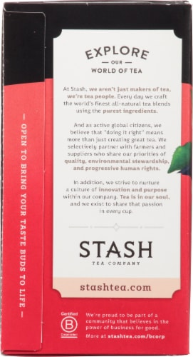 Stash Decaf English Breakfast Black Tea Bags Perspective: left
