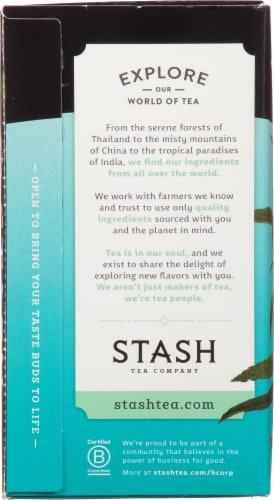 Stash Caffeine Free Super Mint Herbal Tea Perspective: left