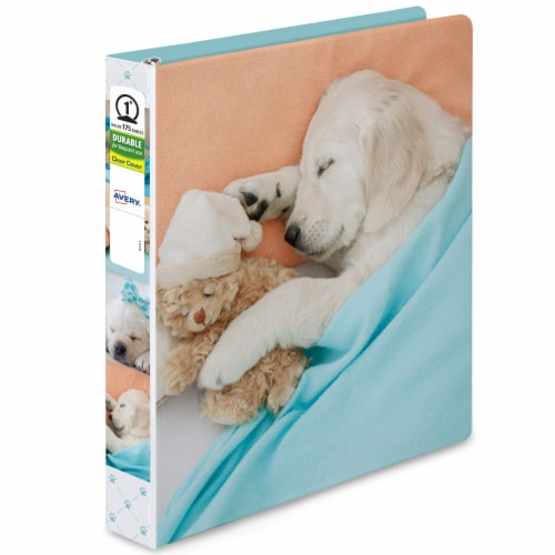 Avery Furry Friends Binder - Assorted Perspective: left