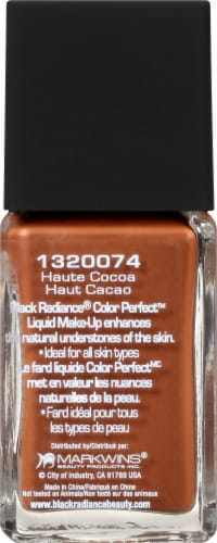 Black Radiance Color Perfect Haute Cocoa Liquid Makeup Perspective: left