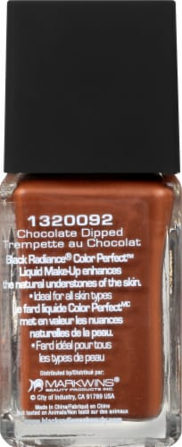 Black Radiance Color Perfect Chocolate Dipped Liquid Makeup Perspective: left