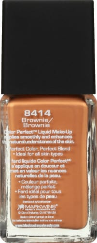 Black Radiance Color Perfect Brownie Liquid Foundation Perspective: left