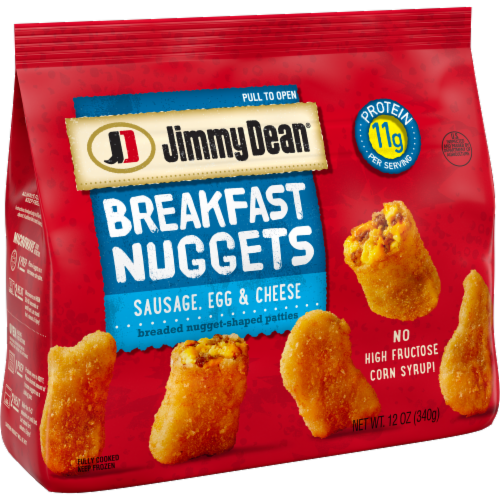 Jimmy Dean Sausage Egg & Cheese Breakfast Nuggets Perspective: left