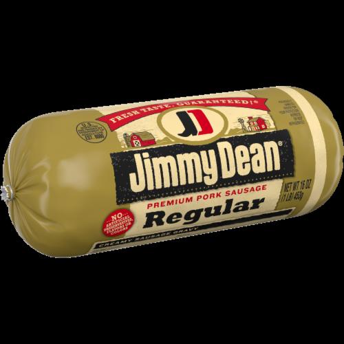 Jimmy Dean Regular Premium Pork Sausage Roll Perspective: left