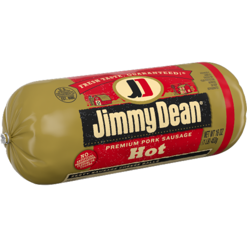 Jimmy Dean Premium Pork Hot Sausage Roll Perspective: left