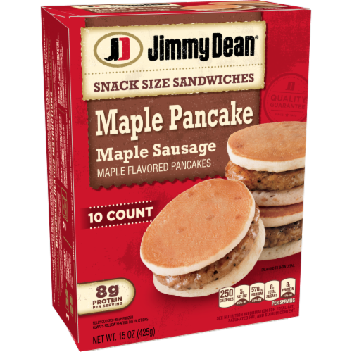 Jimmy Dean Snack Size Maple Pancake & Sausage Sandwiches Perspective: left