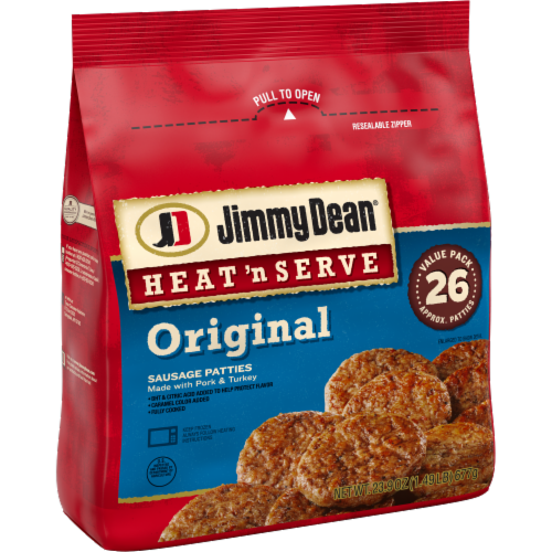 Jimmy Dean® Heat 'N Serve Original Pork Sausage Patties Perspective: left