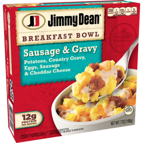 Jimmy Dean Sausage & Gravy Breakfast Bowl Perspective: left