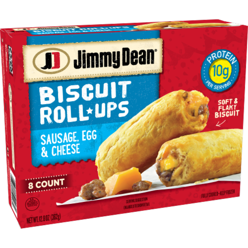 Jimmy Dean Sausage Egg & Cheese Biscuit Roll-Ups Perspective: left