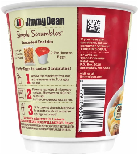 Jimmy Dean Simple Scrambles Sausage Breakfast Cup Perspective: left