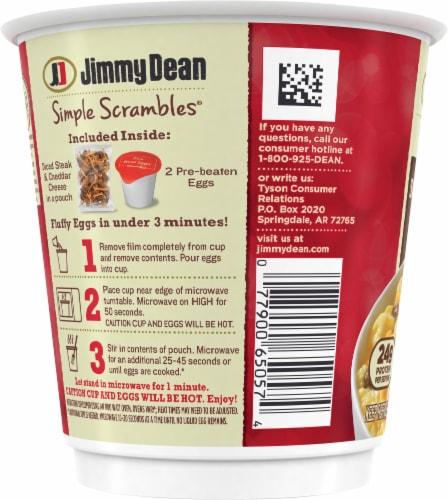 Jimmy Dean Simple Scrambles® Steak & Cheddar Breakfast Cup Perspective: left