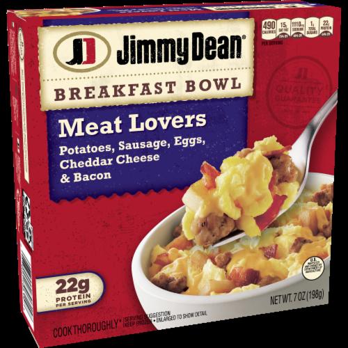 Jimmy Dean Meat Lovers Breakfast Bowl Frozen Meal Perspective: left