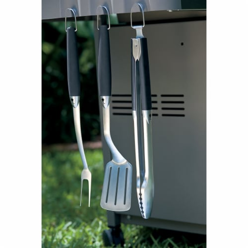 Weber Stainless Steel Barbecue Tool Set Perspective: left