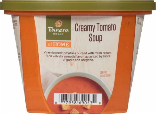 Panera Bread at Home Creamy Tomato Soup Perspective: left