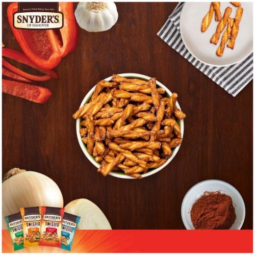 Snyder's of Hanover Onion Garlic & Pepper Seasoned Twisted Pretzel Sticks Perspective: left