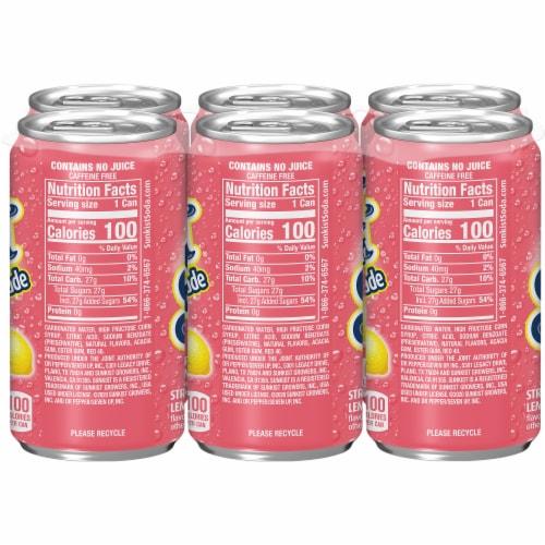 Sunkist Strawberry Lemonade Soda Perspective: left