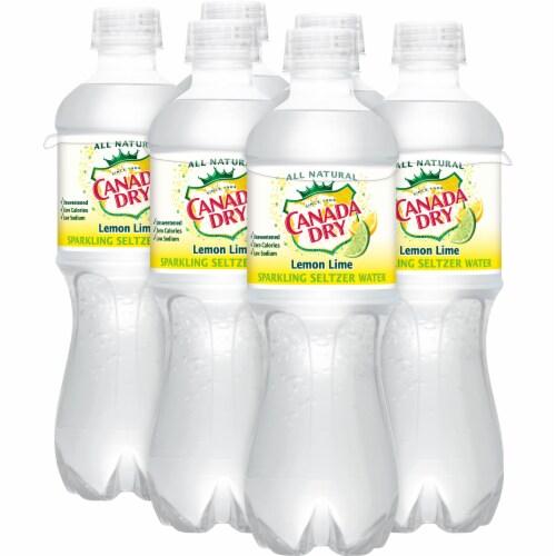 Canada Dry Sparkling Lemon Lime Seltzer Water Perspective: left
