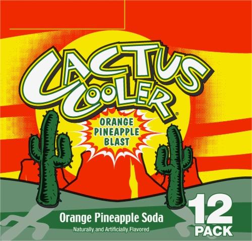 Cactus Cooler Orange Pineapple Blast Soda Perspective: left