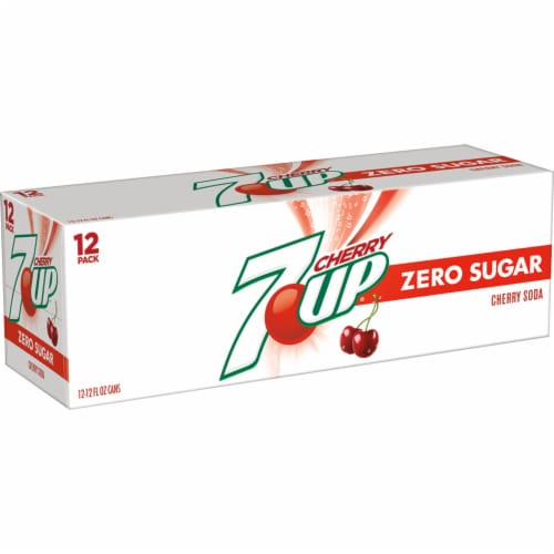 7UP Zero Sugar Cherry Soda Perspective: left