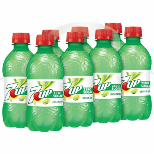 7UP Zero Sugar Lemon-Lime Soda Perspective: left