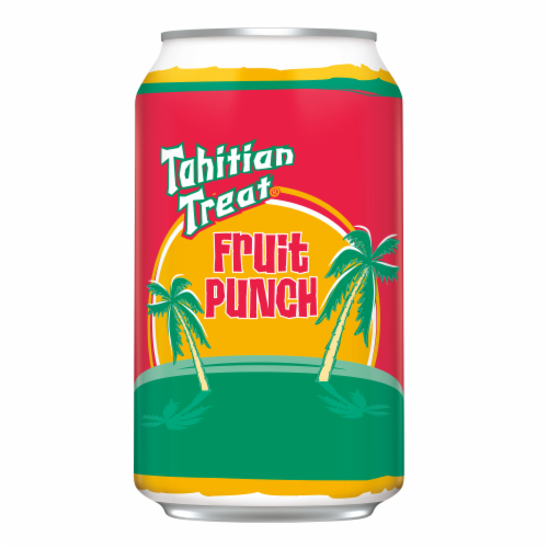 Tahitian Treat Fruit Punch Soda 12 Cans Perspective: left