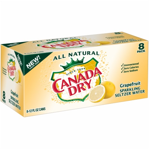 Canada Dry Grapefruit Sparkling Seltzer Water Perspective: left
