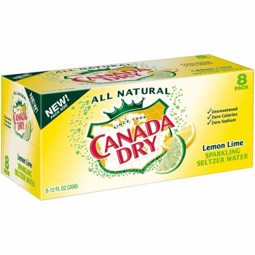 Canada Dry Lemon Lime Sparkling Seltzer Water Perspective: left