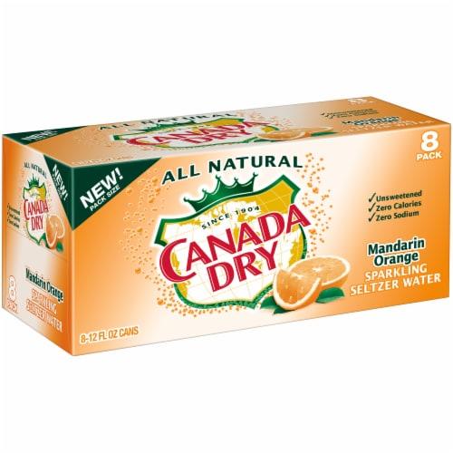 Canada Dry Mandarin Orange Sparkling Seltzer Water Perspective: left